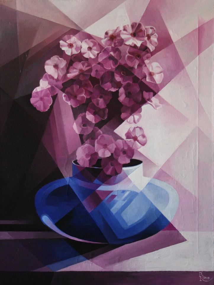 Vasily Vyacheslavovich Krotkov. Purple. Post-Cubo-Futurism
