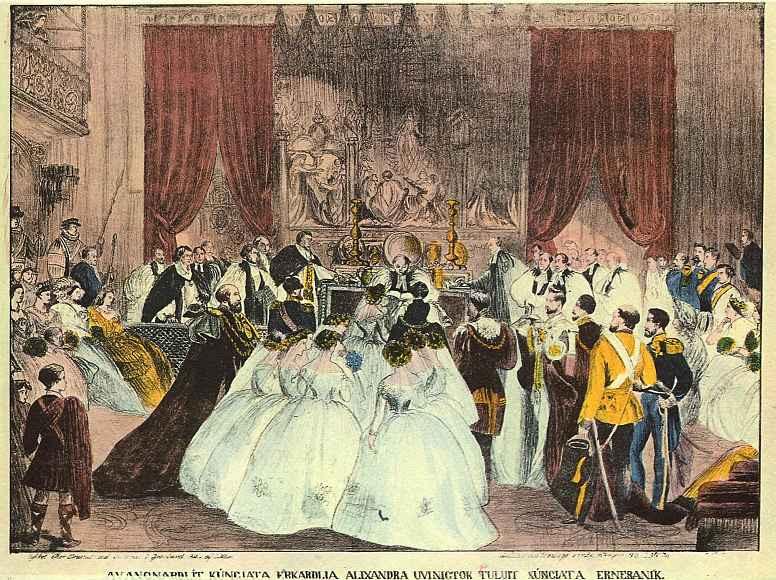 Ларс Нильсен Моллер. Бракосочетание принцессы Александры с принцем Альбертом Эдуардом