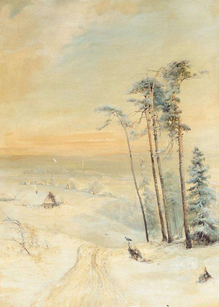 Alexey Savrasov. Winter landscape