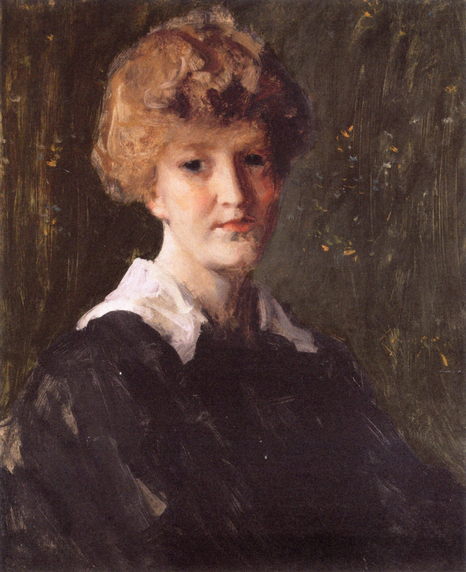 William Merritt Chase. Portrait of a woman