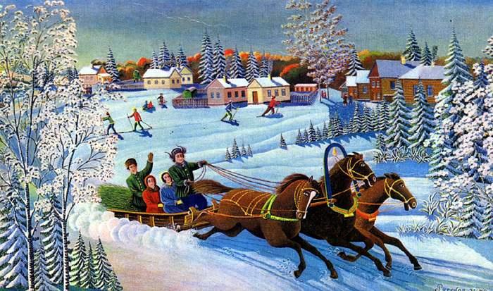 Alexander Mikhailovich Tverdokhvalov. Russian Winter