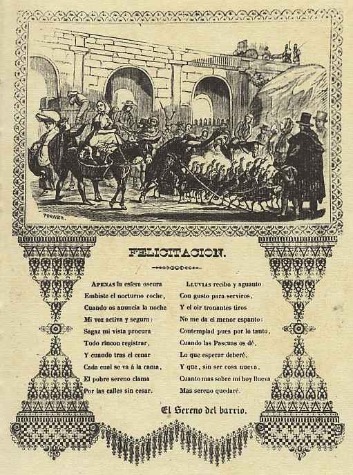 Микель Торнер. Прибытие индюшек на рынок, рождественская открытка