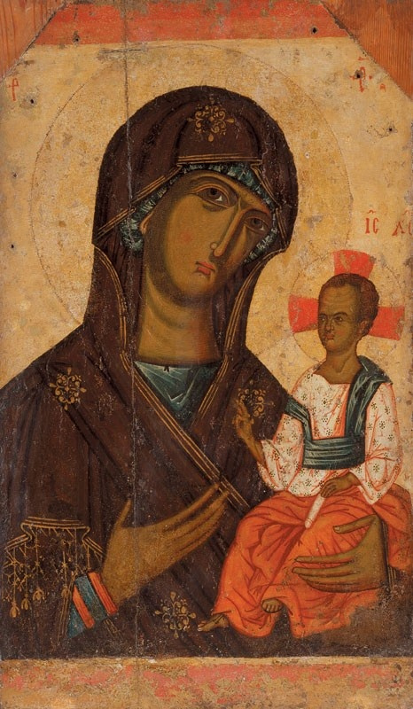 Ukrainian Icon Volhynia. Volyn Virgin