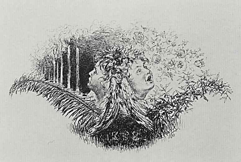 Adolf Friedrich Erdmann von Menzel. Two angel heads