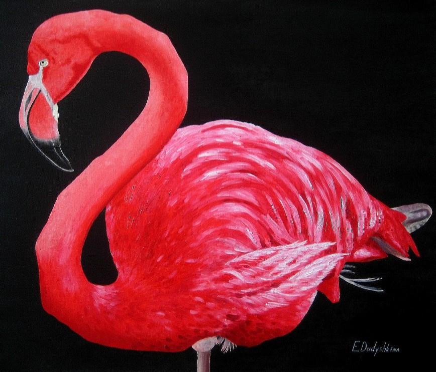 Ekaterina Sergeevna Dudyshkina. Flamingo