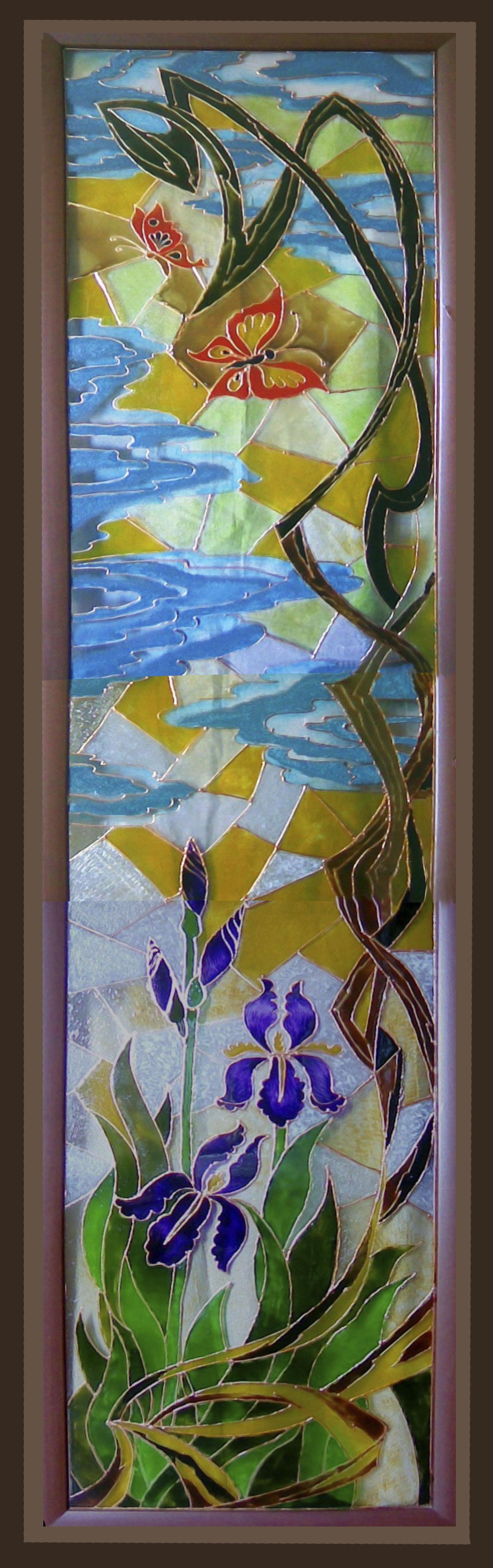 """Larissa Bulanenko. Stained Glass """"Iris"""""""