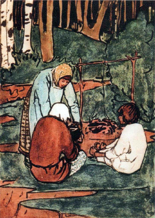 "Elena Dmitrievna Polenova. Illustration for the tale ""Son Filippo"""