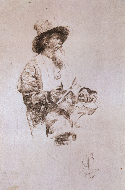 Mikhail Vrubel. Peasant lyre. Etude costume class