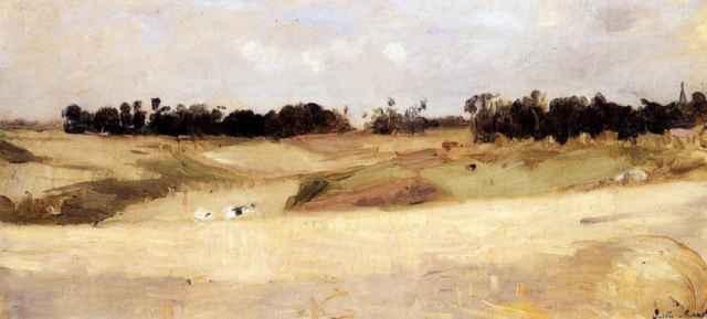Берта Моризо. Пейзаж около Валансьена