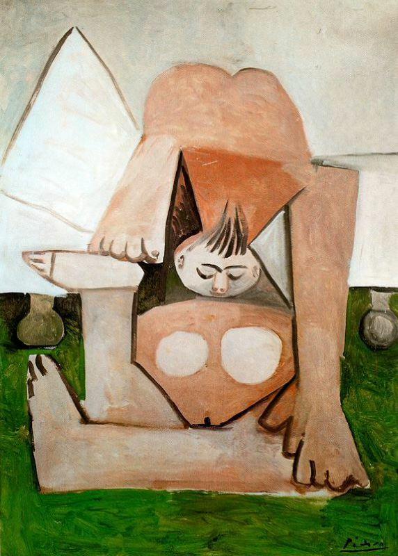 Пабло Пикассо. Обнаженная на диване