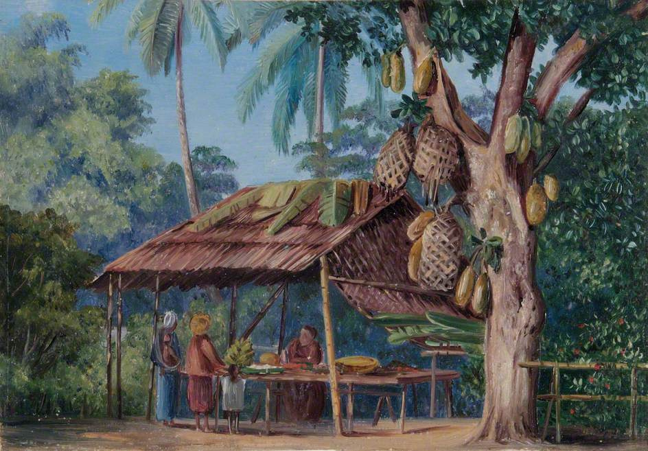 Marianna North. Jackfruit Shop, Java