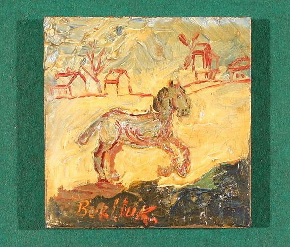 Давид Давидович Бурлюк. Скачущий конь по деревне