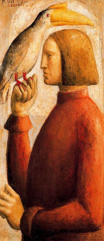 Мануэль Гиль. Мужчина с птицей