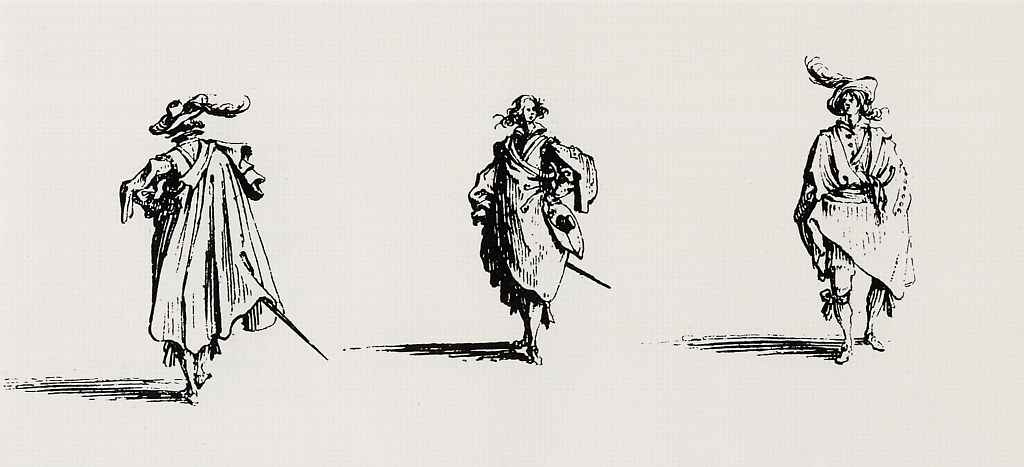 Жак Калло. Три кавалера