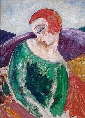 Эйнар Вегенер   (Лили Эльбе). Женский портрет