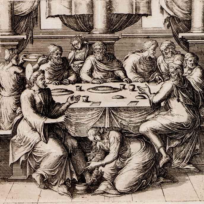Ван Брук. Христос у Симона-фарисея