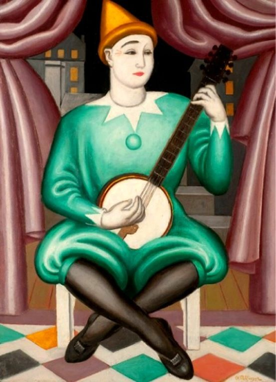 Jean Metzinger. Clown with banjo