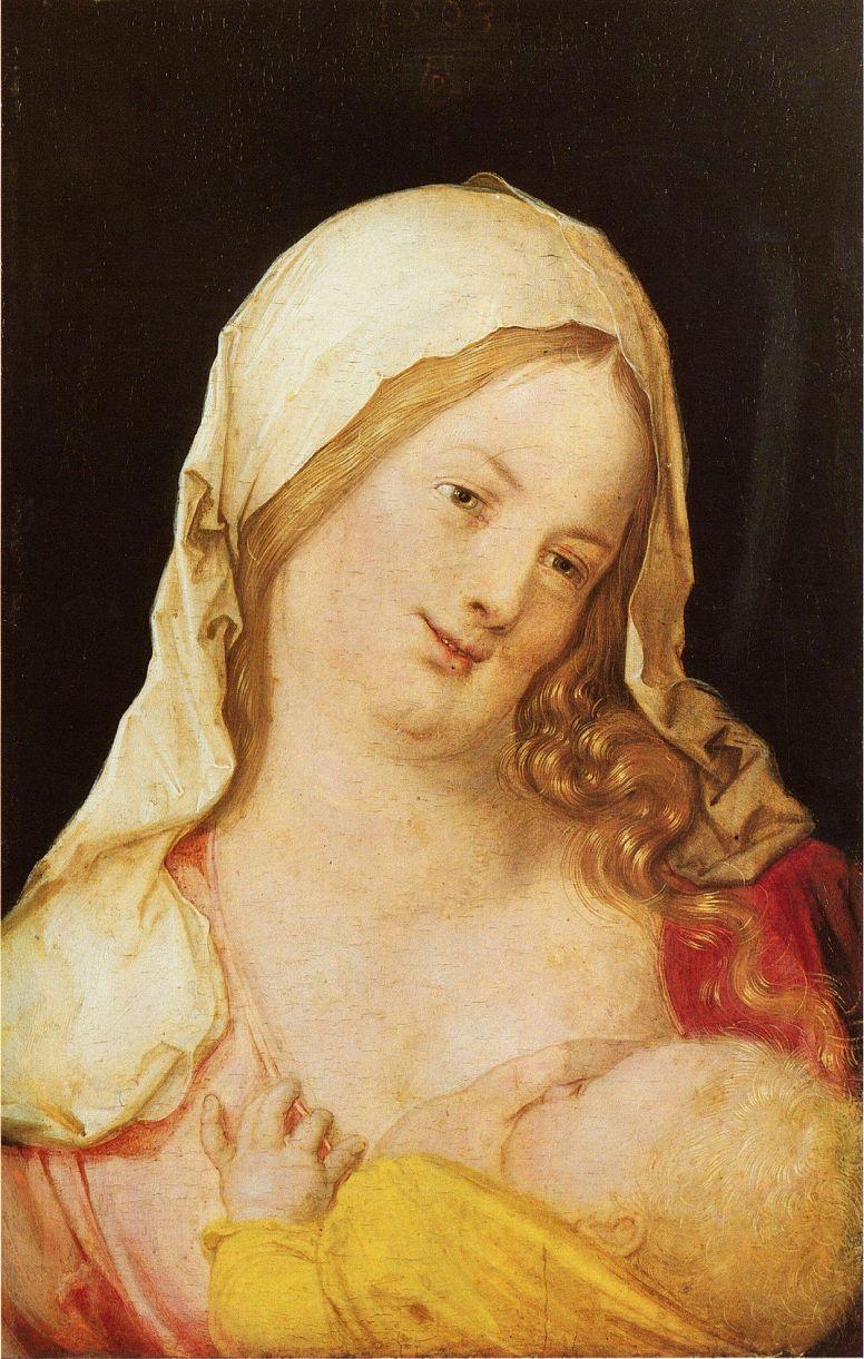 Albrecht Durer. Mary with child