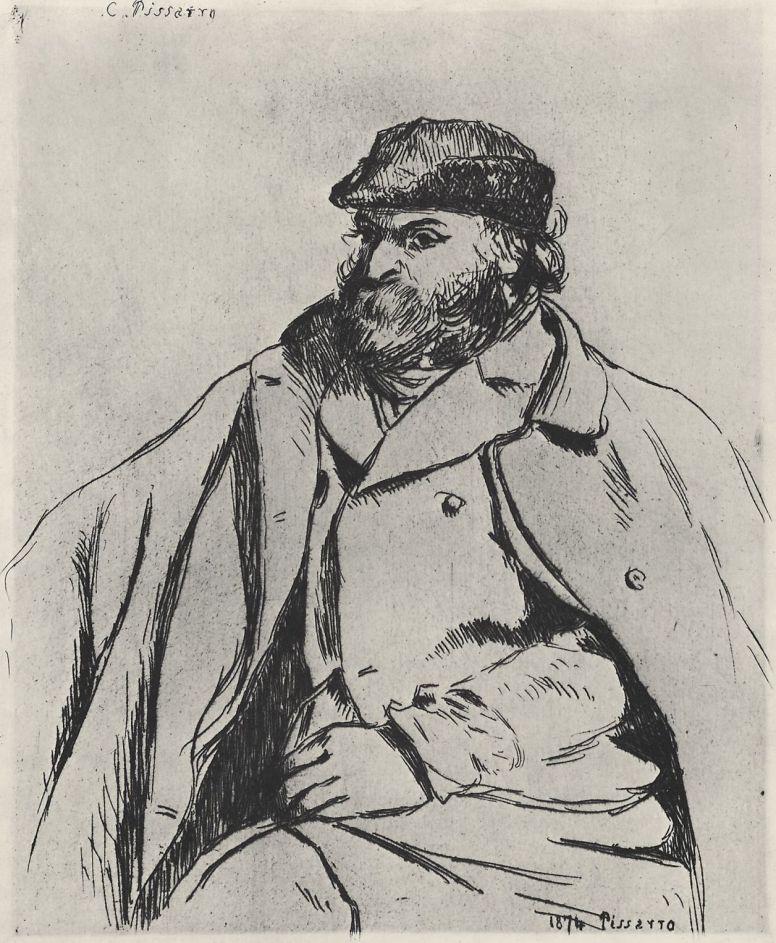 Камиль Писсарро. Портрет Поля Сезанна