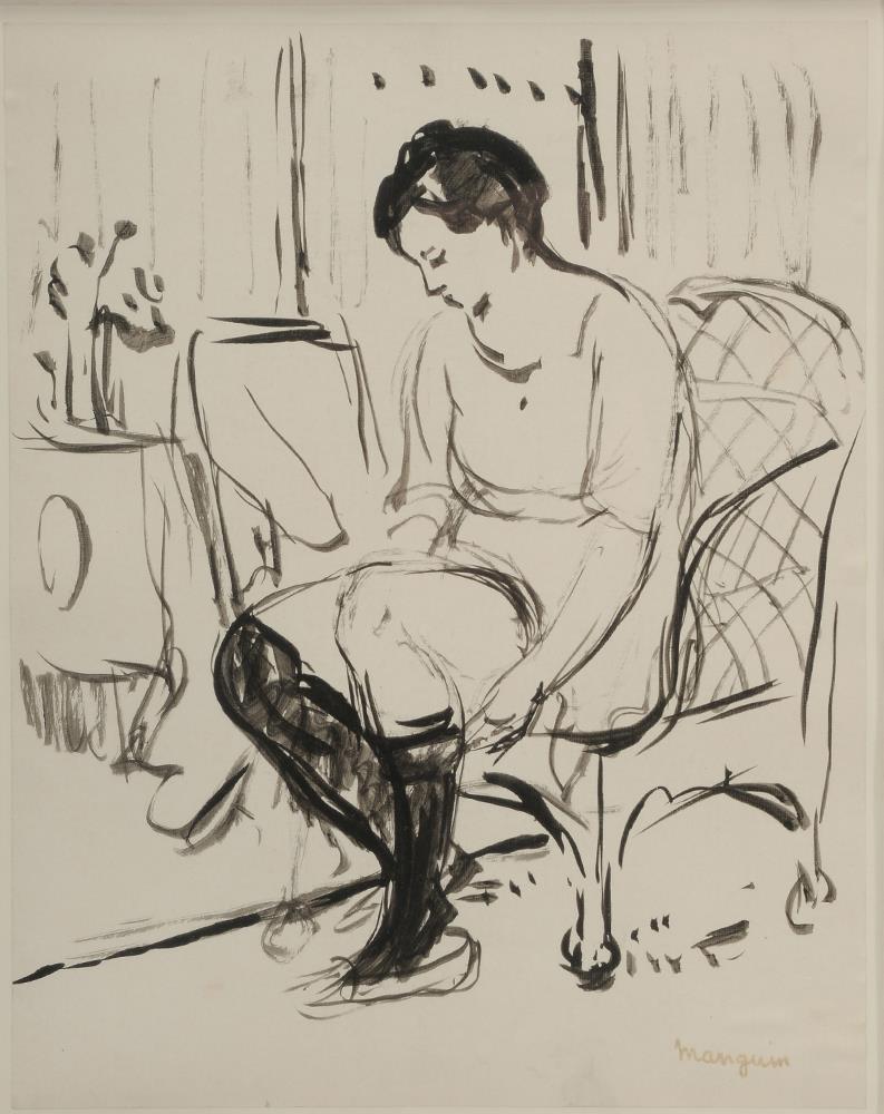 Henri Manguin. Woman wearing stockings