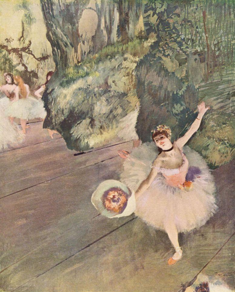 Эдгар Дега. Танцовщица с букетом цветов