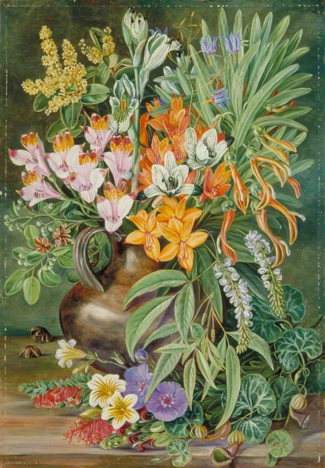 Марианна Норт. Натюрморт с дикими цветами Килпуэ, Чили