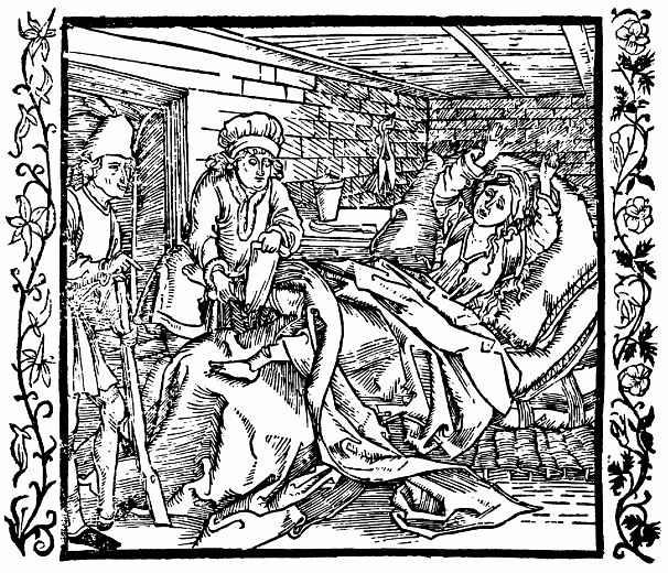 Альбрехт Дюрер. В наказание верёвочник позволяет переломать ноги своей неверной жене