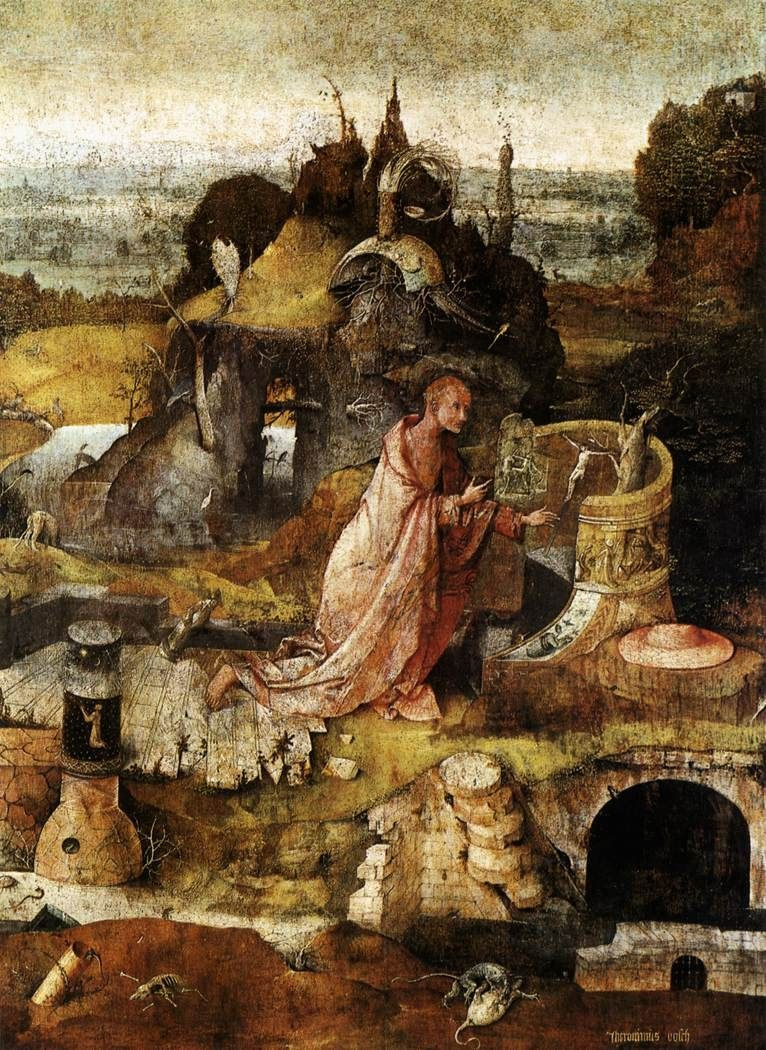 Hieronymus Bosch. Saint Jerome. The Central part of the triptych Holy Hermits