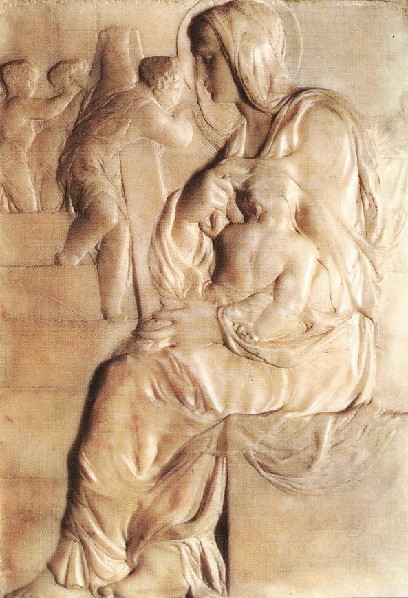 Микеланджело Буонарроти. Мадонна у лестницы