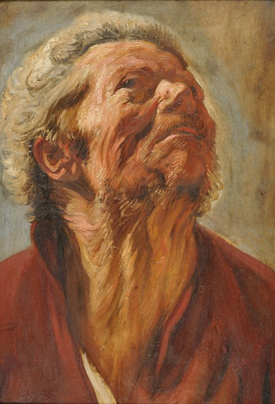 Jakob Jordaens. A sketch of the head