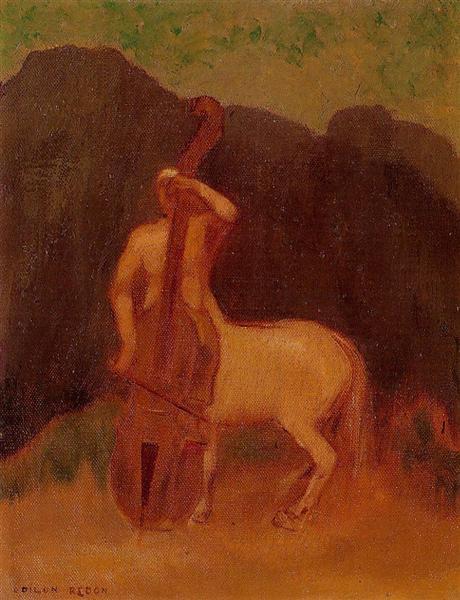 Одилон Редон. Кентавр с виолончелью