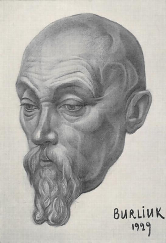 Давид Давидович Бурлюк. Портрет Николая Рериха