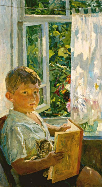 Аркадий Александрович Пластов. У окна (Портрет внука)