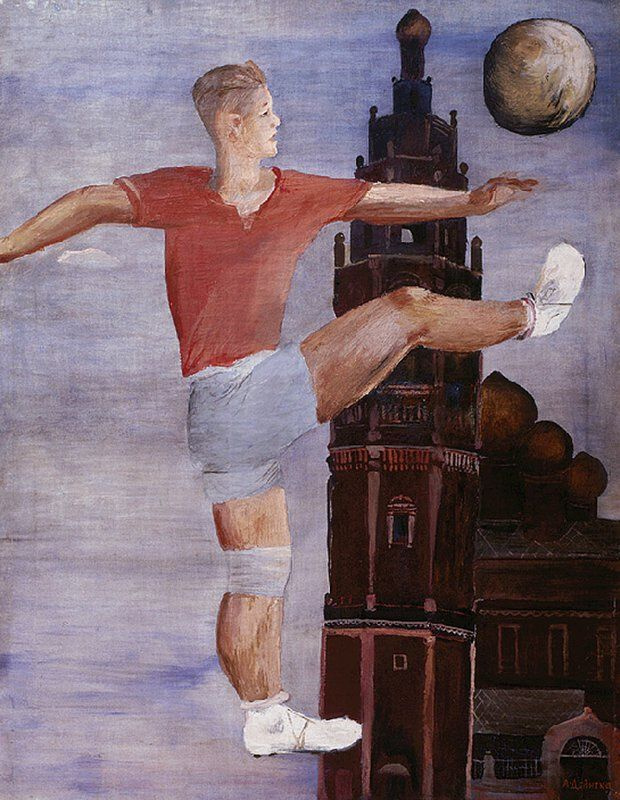 Александр Александрович Дейнека. Футболист