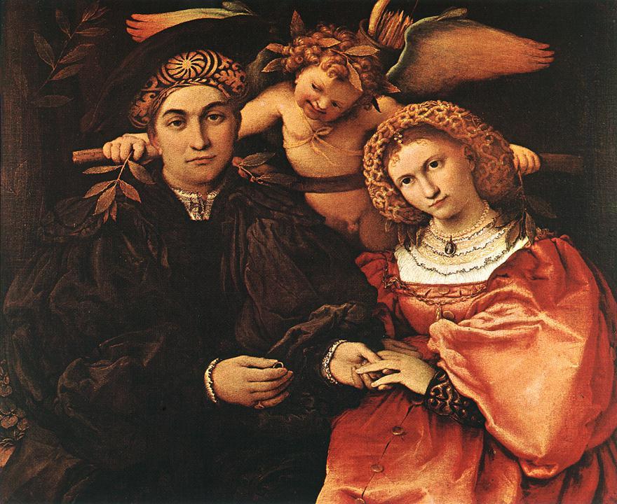Лоренцо Лотто. Мессер Марсилио с супругой
