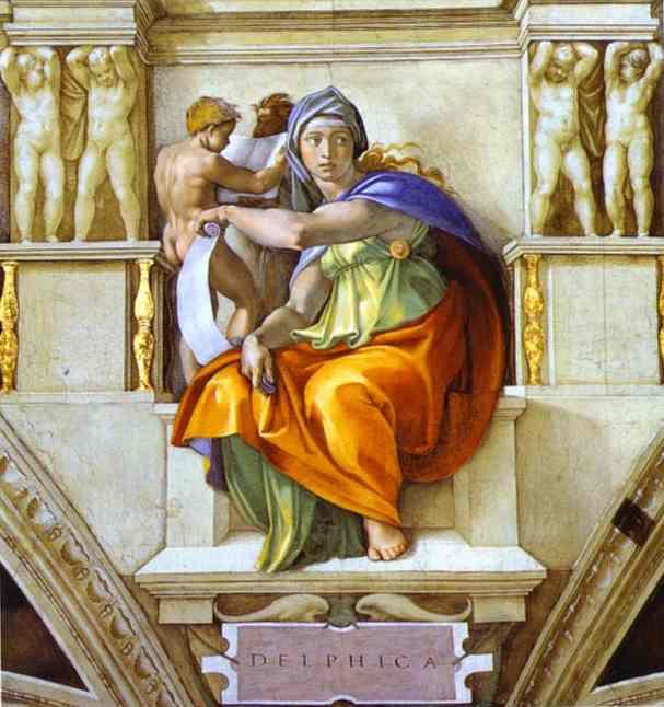 Микеланджело Буонарроти. Дельфийская сивилла