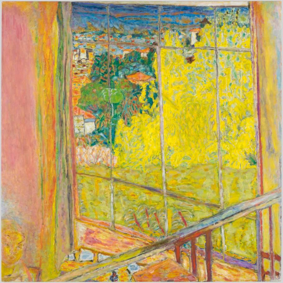 Pierre Bonnard. Workshop with mimosa
