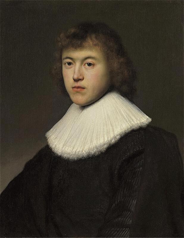 Ян Ливенс. Портрет молодого человека с кружевным воротником (по Рембрандту)
