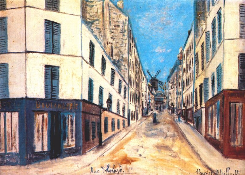 Морис Утрилло. Улица в Монмартре