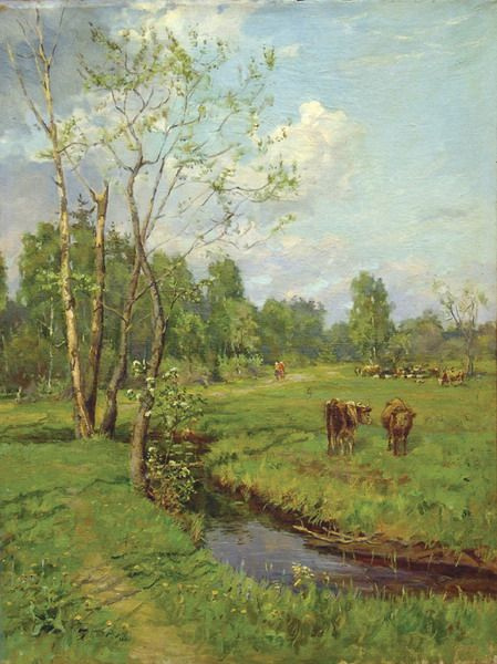 Alexey Mikhailovich Gritsay. Landscape with a herd