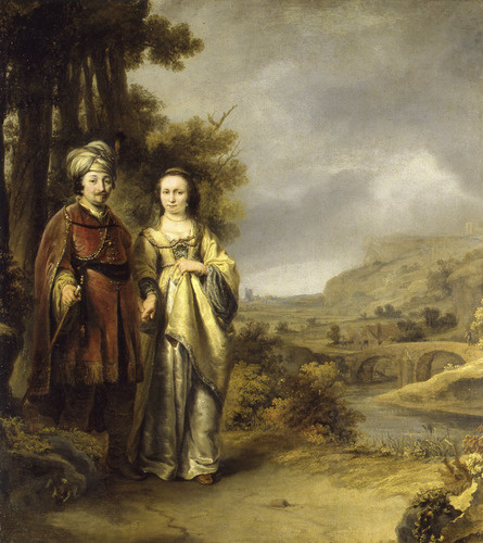 Ferdinand Baltasars Pain. Couple in a Landscape (Isaac and Rebecca)