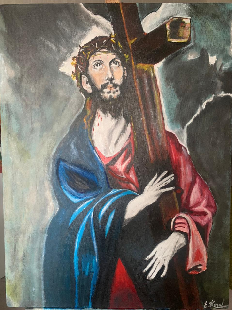 Elena Alexandrovna Nechaeva. Jesus Christ with the Cross