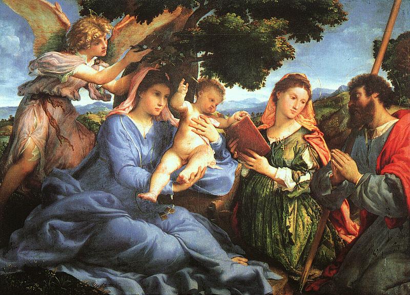 Лоренцо Лотто. Поклонение