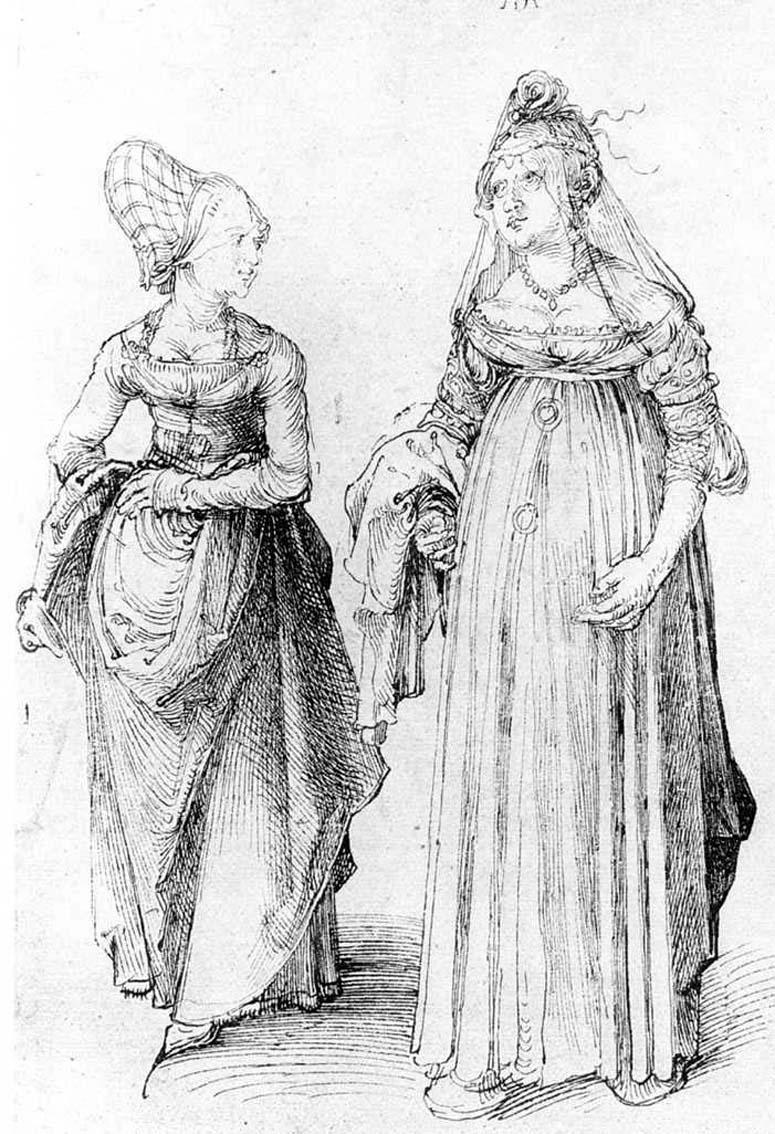 Albrecht Dürer. Venetian and woman from Nuremberg