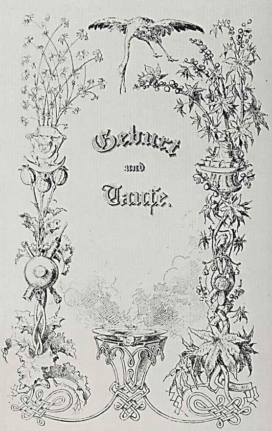 """Адольф фон Менцель. """"Альбом для увековечения памяти о важных событиях семейной жизни"""", Рождения и крестины"""