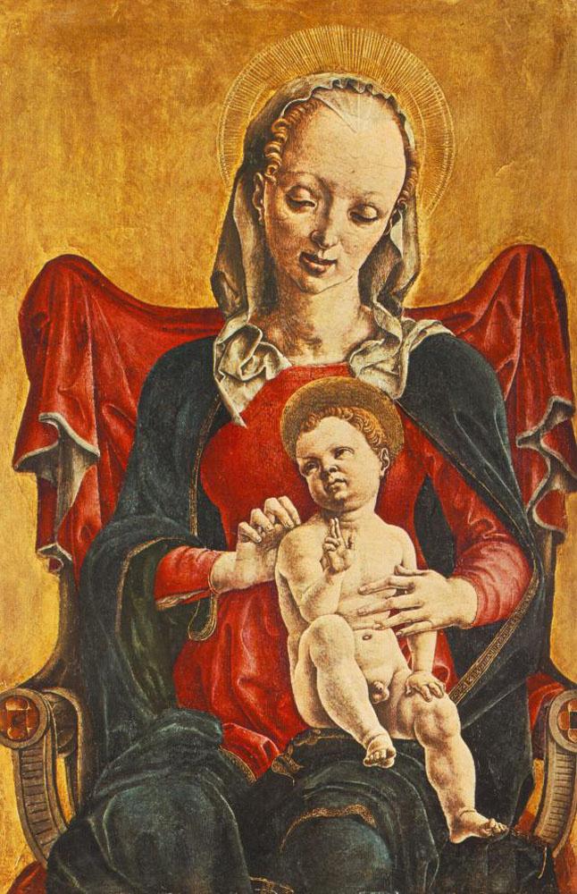 Козимо Тура. Дева с младенцем
