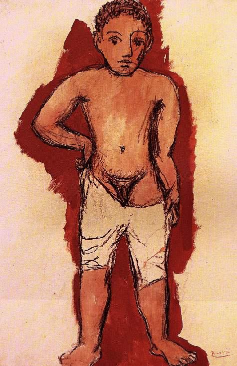 Пабло Пикассо. Мальчик в кальсонах
