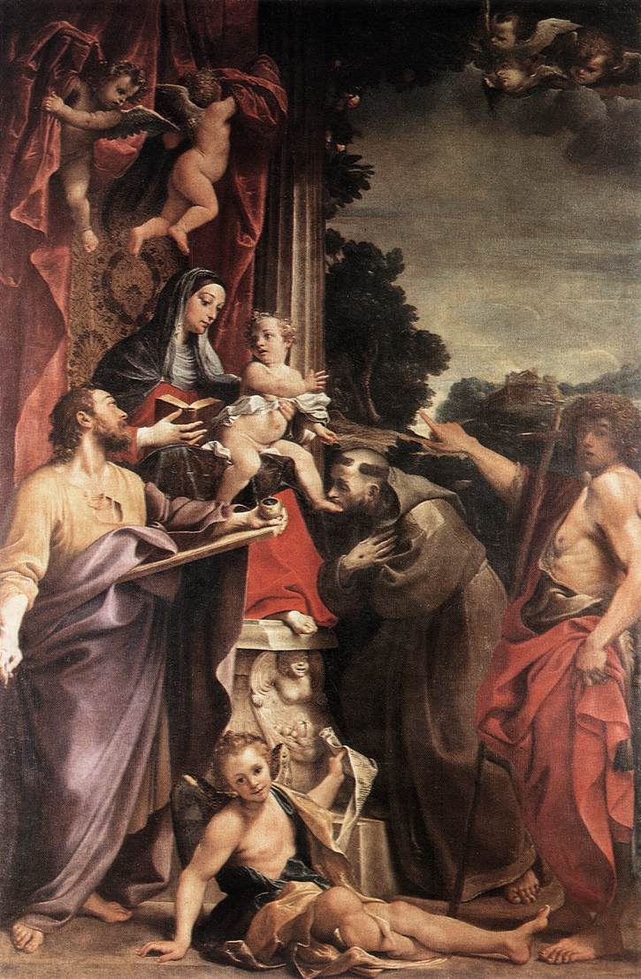 Annibale Carracci. Madonna enthroned with St. Matthew