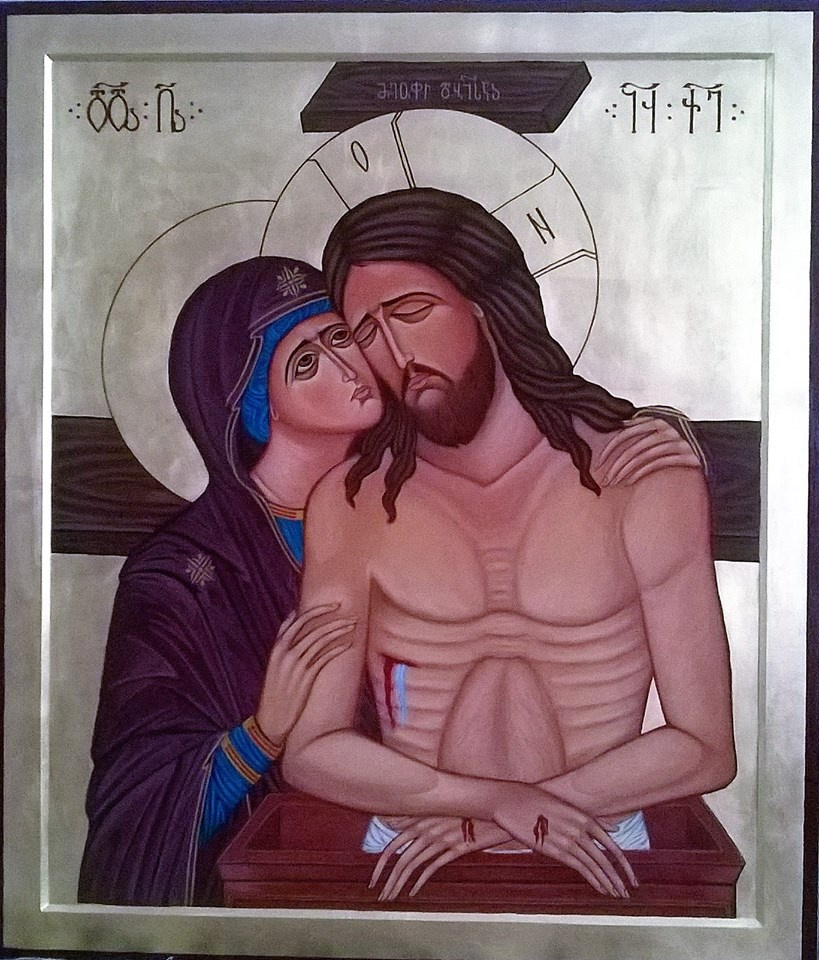 Badri Bukia. The Virgin Mary mourning Christ