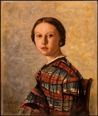 Камиль Коро. Портрет молодой девушки